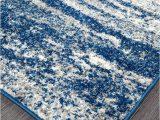 Royal Blue and Grey Rug Mirage Modern 355 Rug Royal Blue Grey