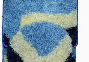 Royal Blue Bath Rug Sets Royal Trading 3 Piece Shaggy Bathroom Set Blue