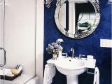 Royal Blue Bathroom Rug Set Blue and White Modern Bathroom