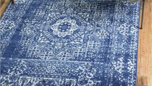 Royal Blue Fluffy Rug 4 X 6 Heritage Rug