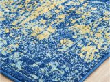 Royal Blue Fluffy Rug Radiance 411 Royal Blue Runner Rug