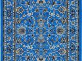 Royal Blue oriental Rug Bright Blue Vintage Style Rug Blue Decor Bright Blue