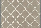 "Rubber Backed 3×5 area Rugs Non Skid Slip Rubber Back Antibacterial 3×5 3 3"" X 4 7"" Door Mat Rug Dallas Moroccan Trellis Grey Modern Geometric Lattice Thin Low Pile Machine"