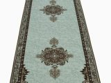 Rubber Backed area Rugs 4×6 Persian Medallion Spa Blue area Rug Slip Skid Resistant Rubber Back 7 X 9 Rug