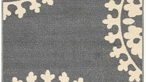 Rubber Backed area Rugs 4×6 Qute Home European Medallion Non Slip Rubber Backed area Rugs & Runner Rug Grey Ivory 2 Ft X 6 Ft Runner Rug