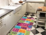 """Rubber Backed area Rugs 8×10 Kapaqua Rubber Backed 2 8"""" X 10 Multicolor Fancy Patchwork Long Runner Non Slip Rug Rana Collection Kitchen Dining Living Hallway Bathroom Pet"""