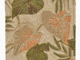 """Rubber Backed Outdoor area Rugs area Rugs """"tropical Foliage"""" Indoor Outdoor Rug 24"""" X 36"""" island Style"""