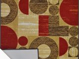 Rubber Backed Outdoor area Rugs Bandelini Napoli Collection Modern Contemporary Design