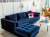 Rug for Blue Couch 25 Stunning Living Rooms with Blue Velvet sofas
