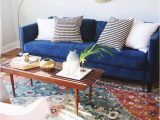 Rug for Blue Couch Design Updates In the Living Room Annabode