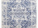 Rug White and Blue Evoke 253 White Navy Rug