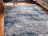 Rug with Blue Accents Navy Blue Ethereal area Rug Blue Accents Living Room