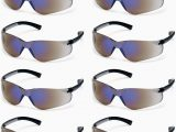 Rugged Blue Diablo Safety Glasses Pyramex Ztek Safety Glasses Blue Mirror Lens S2575s 12 Pair Pack
