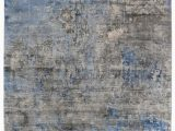 Rugs Blue and Gray Exquisite Rugs Koda Hand Woven 3394 Blue Gray area Rug