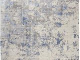 Rugs Blue and Gray Nourison Silky Textures Sly04 Blue Ivory Grey area Rug