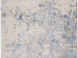 Rugs Blue and Gray Nourison Silky Textures Sly04 Blue Ivory Grey