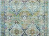 Rugs with Blue and Green Nourison Ankara Global Anr07 Blue Green area Rug