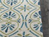 Rugs with Blue and Green Terra Collection Hand Tufted area Rug In Cream Blue