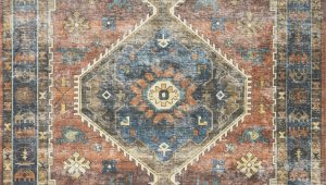 Rust and Blue area Rugs Skye Rust Blue area Rug