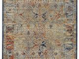 Rust and Gray area Rug Trinity Cotton Gray area Rug