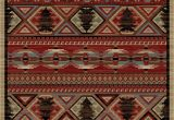 "Rustic Cabin Lodge area Rugs Dean Lodge King Red Pine Rustic area Rug 5 3"" X 7 3"""