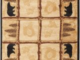 "Rustic Cabin Lodge area Rugs Rug Empire Rustic Lodge area Rug Bear Cabin 5 3"" X 7 3"""