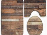 Rustic Farmhouse Bathroom Rugs Chaplle Rustic Planks Grungy Look Farm House 3 Piece