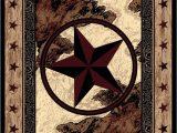 Rustic Texas Star area Rugs American Dakota Great Stateof Mind Ranger Hideout Brown area