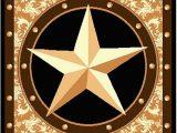 "Rustic Texas Star area Rugs Furnish My Place Texas Western Star Rustic Cowboy Decor area Rug 60"" L Gold Brown Black"