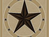 Rustic Texas Star area Rugs Texas Lone Star Rug Ivory