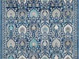 "Safavieh Evoke Blue Ivory Rug Safavieh Evoke Evk251c Blue Ivory 5 1"" X 7 6"" area Rug"