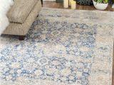 Safavieh Evoke Vintage Ivory Blue Distressed Rug Nuloom Muted Floral Blue area Rug Rugs In Living Room