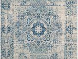 Safavieh Evoke Vintage Ivory Blue Distressed Rug Safavieh Evoke Evk260c Ivory Blue Blue Rug Blue area