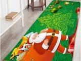 Santa Claus Bathroom Rugs Santa Claus Pattern Antiskid Flannel Christmas Bath Rug