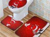 Santa Claus Bathroom Rugs Santa Claus Waterproof Non Slip Bathroom Shower Curtain