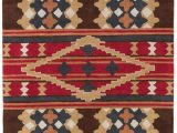 Santa Fe Style area Rugs Red Brown and Blue Santa Fe Rug