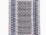 Sears Bathroom Rugs and Mats Sears Geometric Handmade Flatweave Cotton Blue area Rug