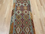 """Secure area Rug to Carpet E Of A Kind Hand Knotted orange 2 7"""" X 10 1"""" Runner Wool area Rug"""
