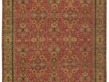 Secure area Rug to Carpet Traditionals Ikat Hand Knotted Wool Red area Rug