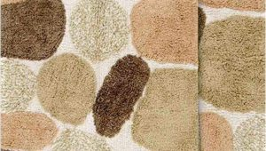 "Set Of Bathroom Rugs Chesapeake Pebbles 2pc Khaki Bath Rug Set 21""x34"" & 24""x40"""