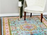 Shabby Chic Style area Rugs French Quarter Floral area Rug 5×7 Shabby Decor Persian
