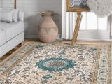 Shabby Chic Style area Rugs Well Woven Djemila Medallion Beige Blue Vintage Persian Floral oriental area Rug Distressed Modern Shabby Chic Thick soft Plush Walmart