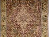 Silk area Rugs for Sale 6 X4 Kashan Pure Silk area Rug Carpet Two tone Medallion oriental Hand Knotted