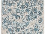 Silver and Blue area Rugs Clara Floral Silver Blue area Rug 10 X14