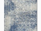 Silver and Blue area Rugs Gossamer Blue Grey area Rug