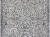 Silver and Blue area Rugs Homeroots 5 Ft 3 In X 7 Ft 7 In Viscose Silver