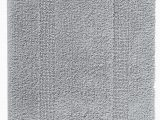 Silver Gray Bath Rugs Classic Reversible Bath Mat In Silver Heaven to Step Out