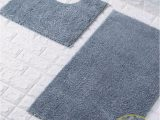 Silver Grey Bathroom Rugs Shiny Sparkling 2pcs Bath Mat Sets Non Slip Water Absorbent Bathroom Rugs Silver by fort Collections