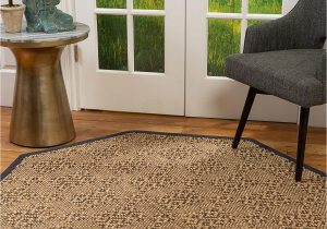 Sisal Rug with Blue Border Amazon Natural area Rugs Natural Fiber Handmade