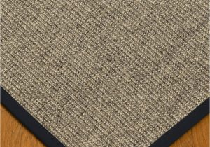 "Sisal Rug with Blue Border Posada Sisal Rug Midnight Blue Border 2 6"" X 8 Runner 8120"